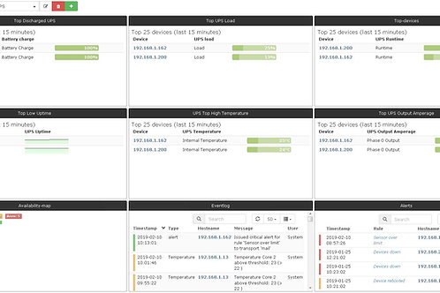 UPS Monitoring Server with dashboard - Unlimited devices - One time cost