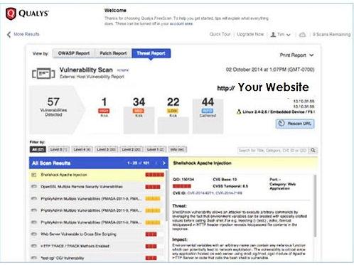 Website Security Audit on demand - prepaid