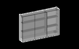 Spegelskåp tre spegeldörrar 3D