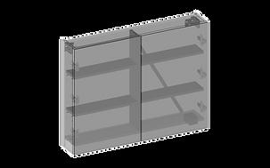 Spegelskåp två spegeldörrar 3D