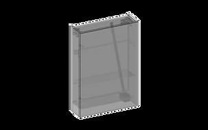Spegelskåp en spegeldörr 3D