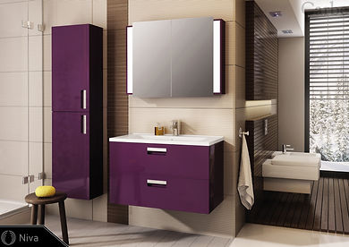 Niva - Aubergine High Gloss, Ceramic Was