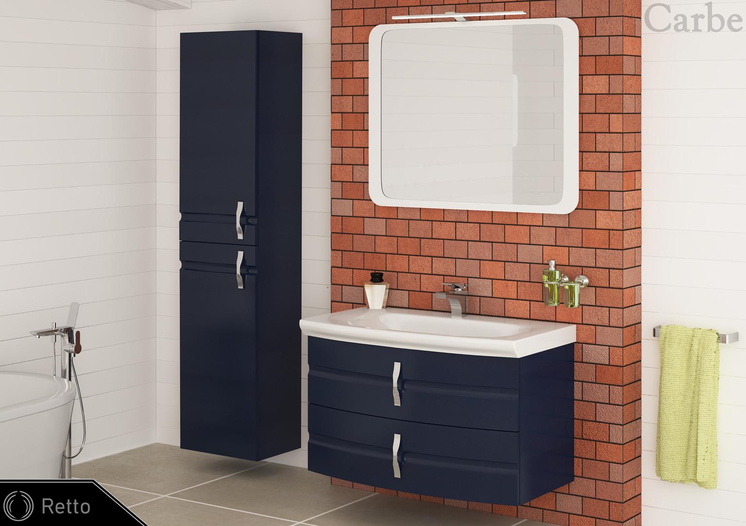 Retto - Night Blue, Ceramic Washbasin, Soft Closing