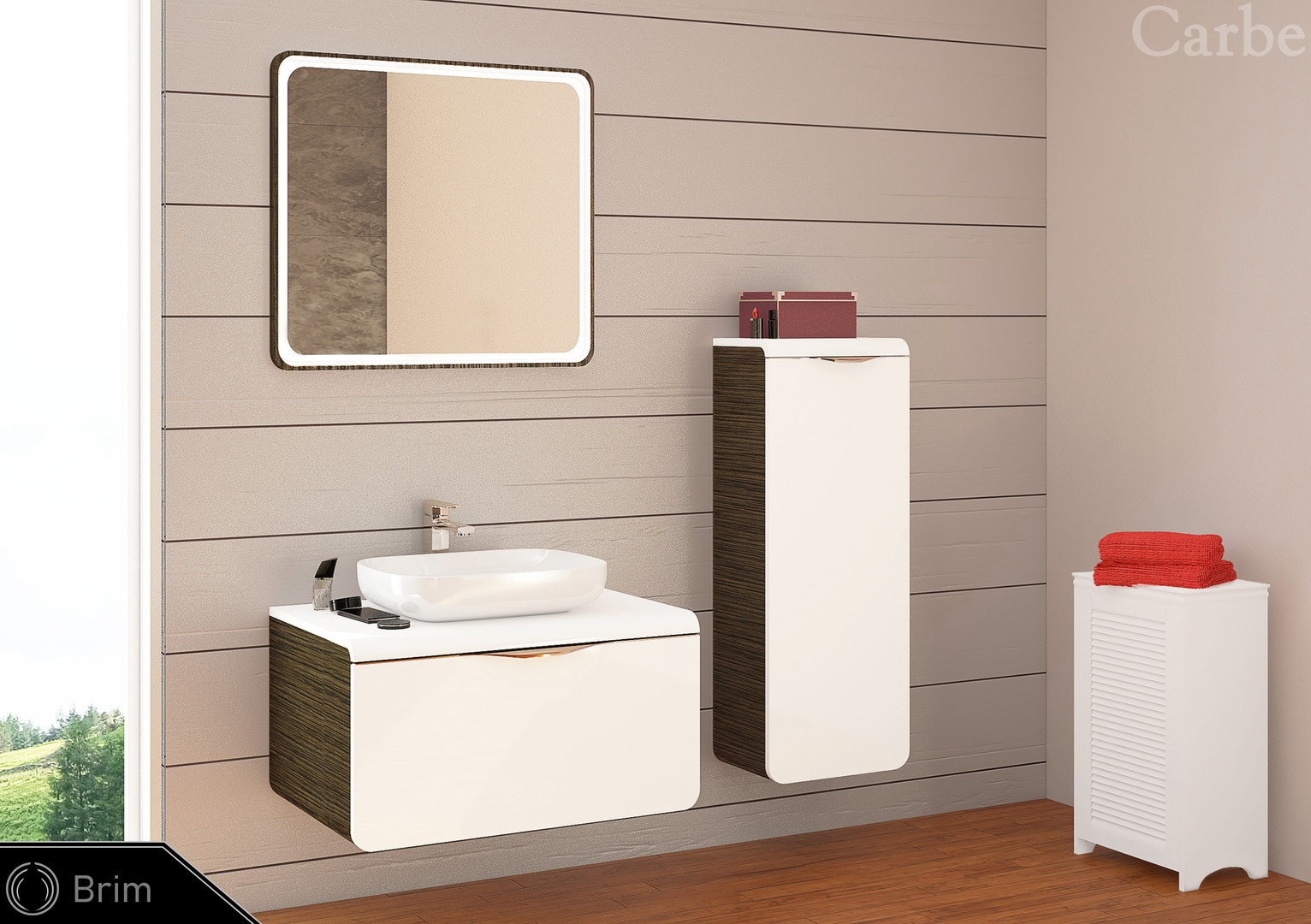 Brim - Gold Venge HG, Arctic White HG, Ceramic Washbasin, Soft Closing