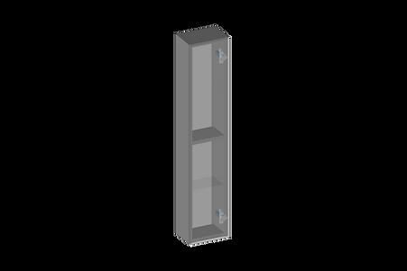 Högskåp, en dörr, glashyllor.png