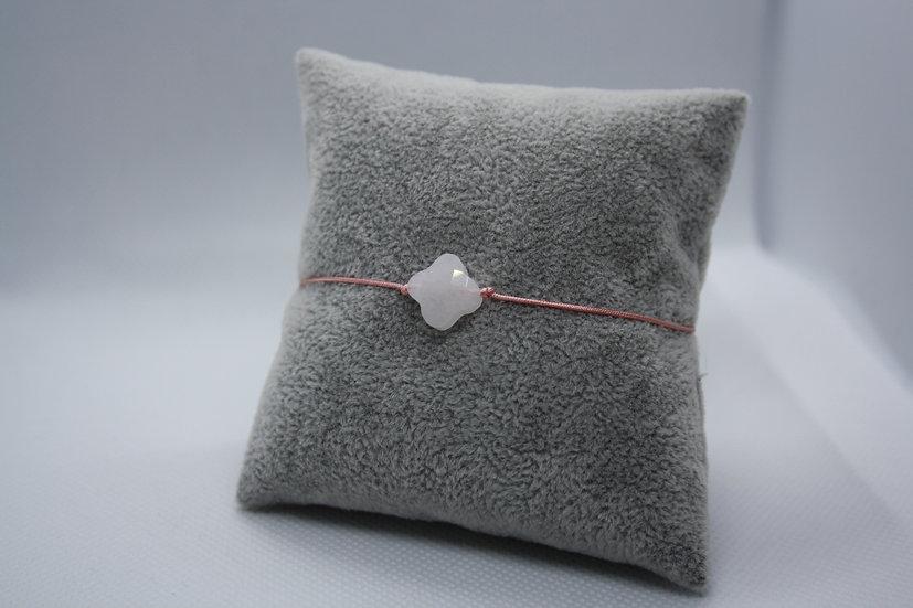 Bracelet Trèfle Jade blanc