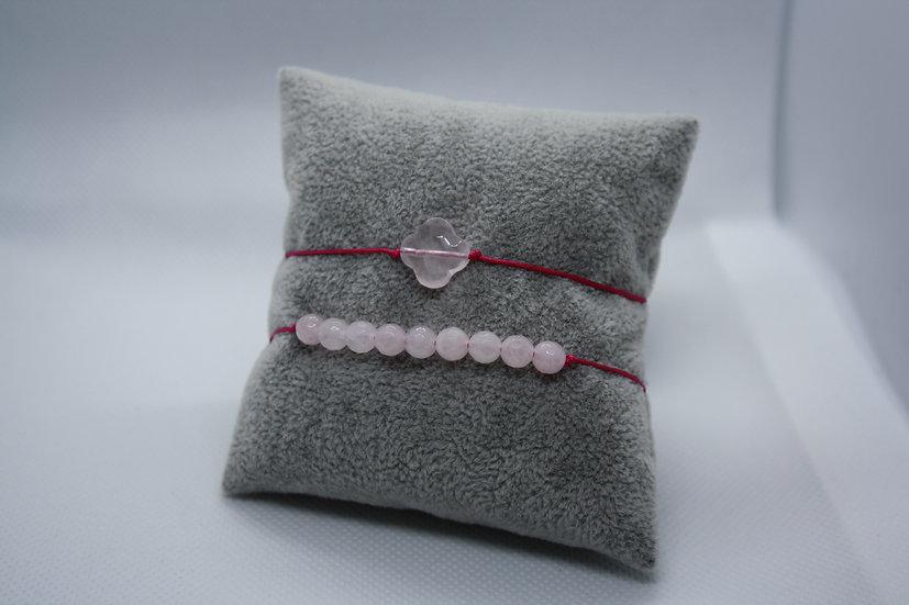 Duo Bracelets Quartz rose