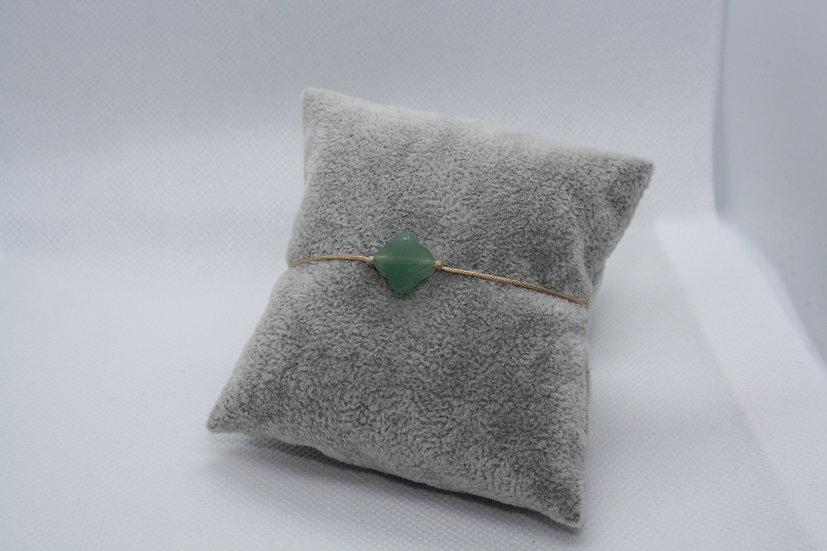 Bracelet Trèfle Aventurine