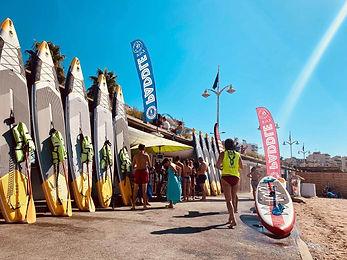 location de paddle plage du Veillat à Saint Raphael