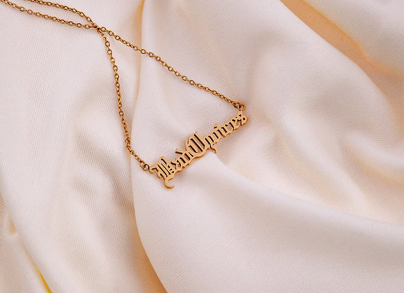 """18k Gold Plated """"Bad Choices"""" Neckalce"""