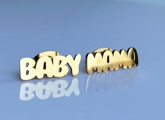 18k Baby Mama  Earrings