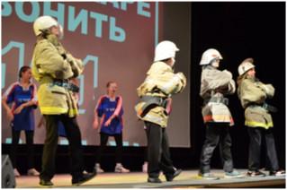 Городской фестиваль – слет дружин юных пожарных в Железногорске