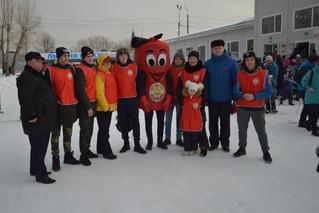 Красноярское ВДПО на Всероссийской массовой акции  «Лыжня России – 2018»