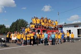 Мероприятие с участием ребят из трудового отряда Главы города Красноярска на острове Татышев-парк