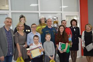 Награждение победителей конкурса детского рисунка «Спасем мир от пожаров»