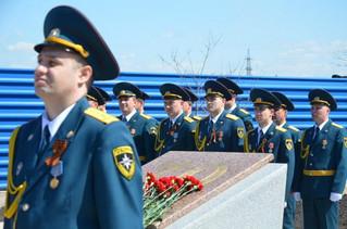 Открытие мемориала памяти погибшим пожарным