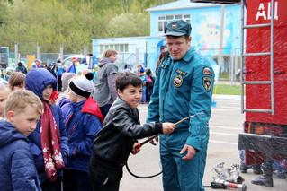 """Соревнования на тему """"Пожарная безопасность"""" для школьников п. Березовка"""