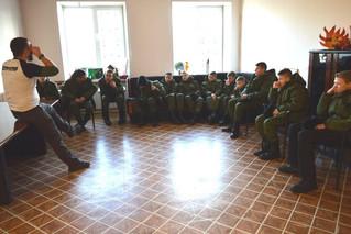 Мастер-класс по пожарной безопасности и оказанию первой медицинской помощи при пожаре для КГБОУ &quo
