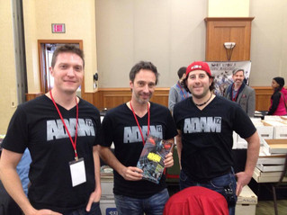 The ADAM 12 creative team hits our fist convention