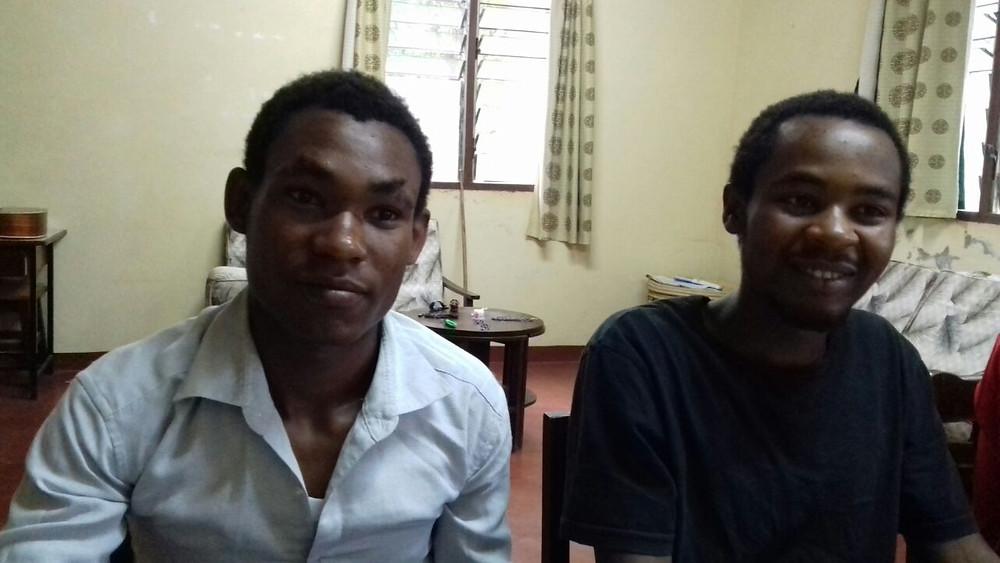 Paul und Gabriel, die ersten beiden Rekuperanten der Fazenda Kenia