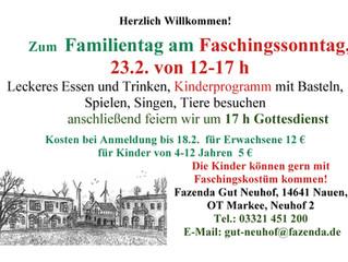 Faschings-Familientag auf Gut Neuhof