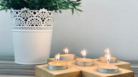 Kerzenständer-Holzkreuz