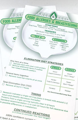 pamphlet-food allergies and breastfeedin