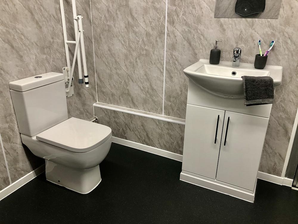 temporary bathroom toilet basin