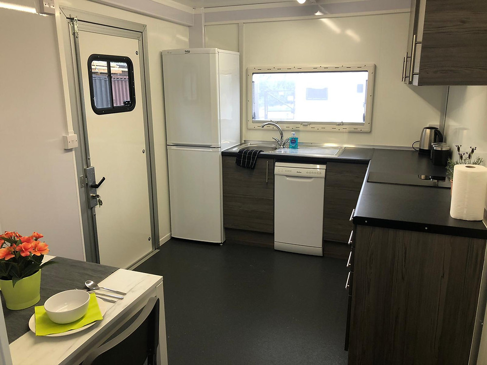 temporary kitchen bathroom combi