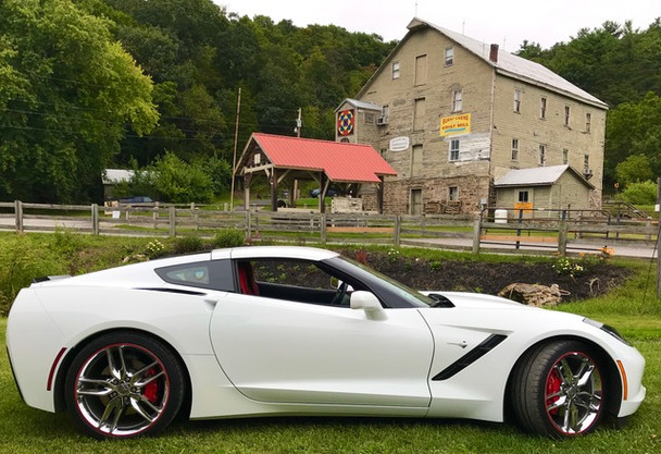 2019 Chevrolet C7 Corvette Stingray, Artic White, 2LT Coupe, Chrome Wheels, Red Calipers, Performance Exhaust, Adrenaline Red Leather Interior, 2 Cameras in the front, Camera in back, plus Bluetooth, & Car Play.