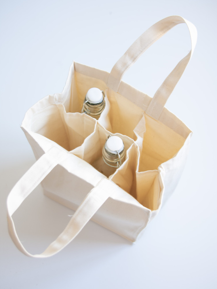 6-Bottle cotton bags