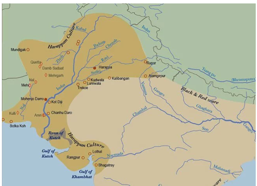 Mapa starożytnej Cywilizacji doliny Indusu