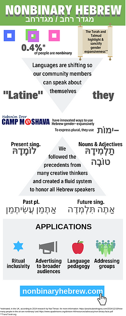 Infographic about the Nonbinary Hebrew Project