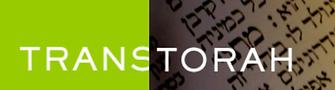 TransTorah.org Logo half green half traditional scribal text