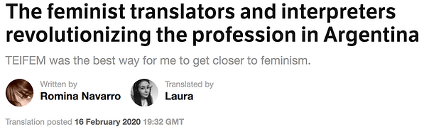 The Femininst Translators and interpreters revolutionizing the profession in Argentina