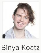 Binya Koatz with undercut and earrings portrait