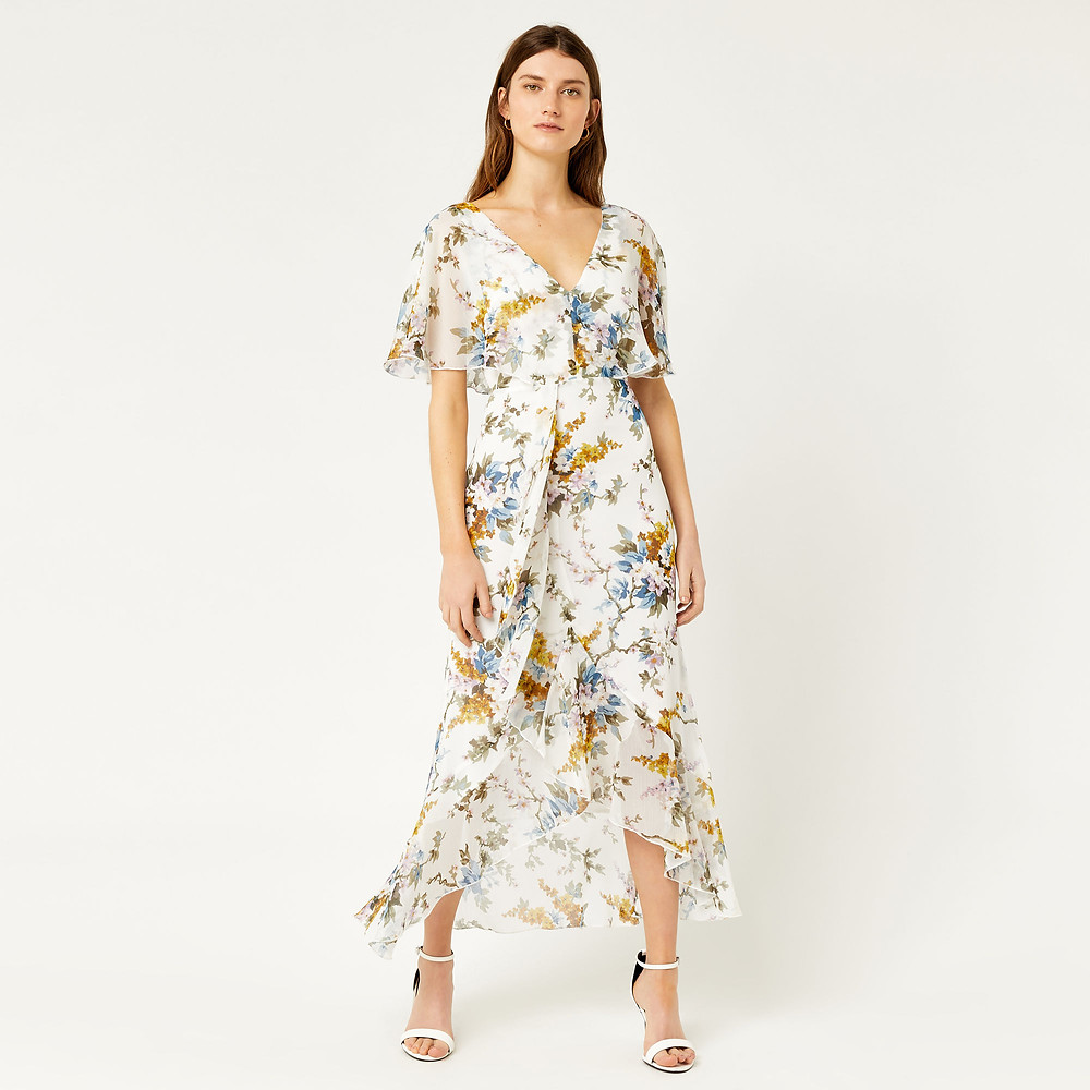 Warehouse Anais midi dress - The Wardrobe Edit
