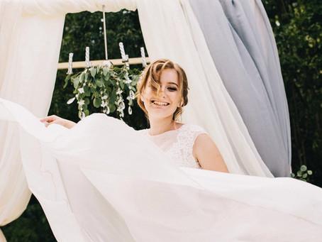 На седьмом небе от счастья: свадьба в небесно-голубых оттенках