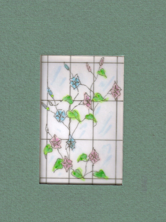 Watercolor for a stained glass window