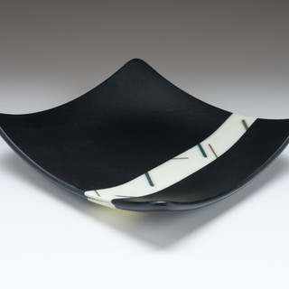 Fused dish with French Vanilla inlay