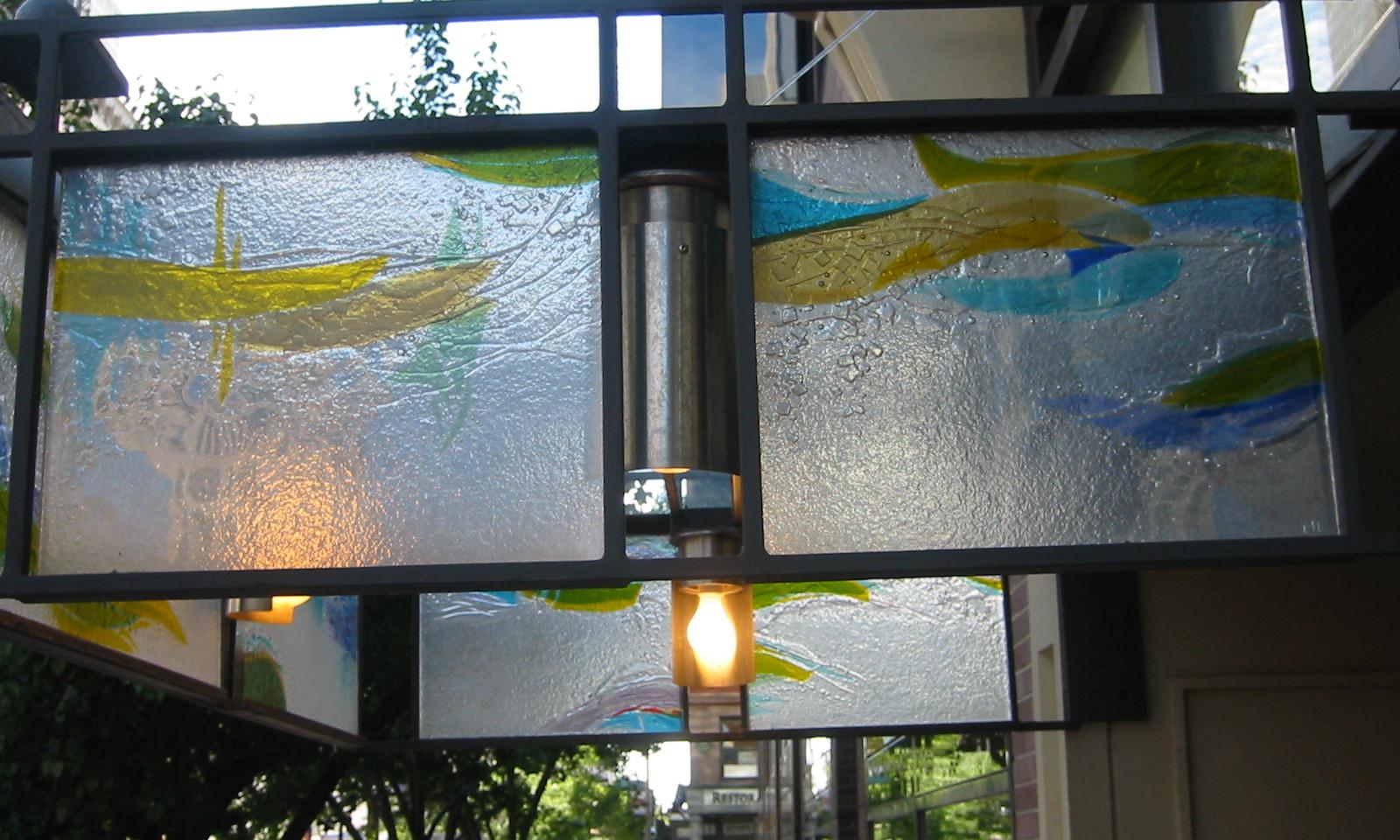 Fused glass panels