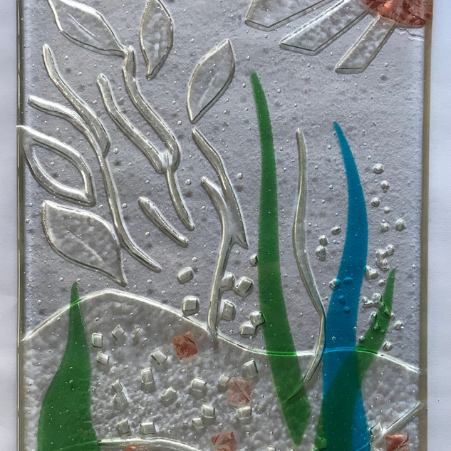Glass low relief.