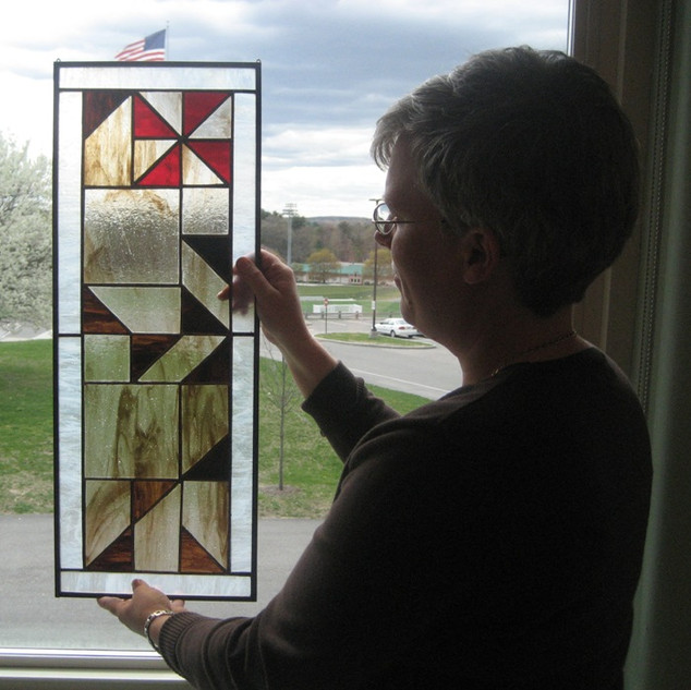 Stained glass workshop at Needahm HS through Needham Community Education.