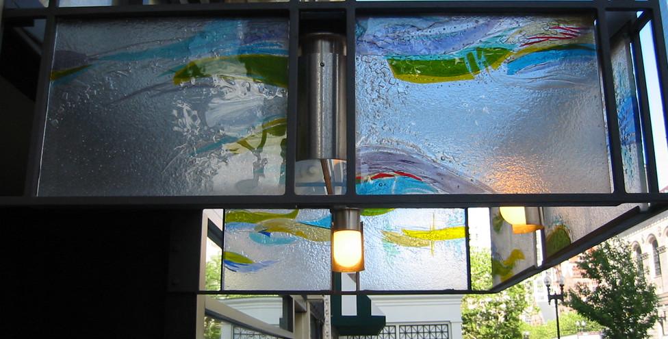 Fused glass at Marathon Place