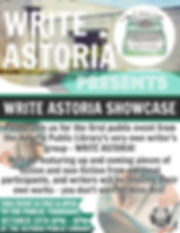 Write Astoria Showcase Astoria Oregon October 19 2017 Poster