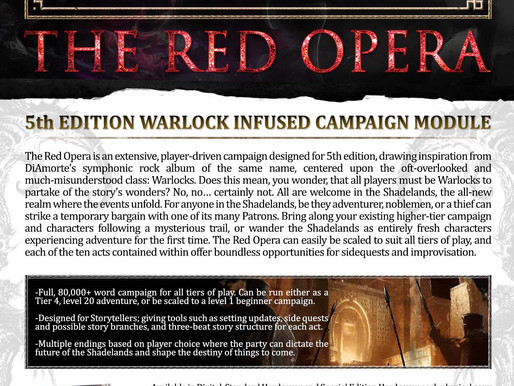 The Red Opera RPG Press Release