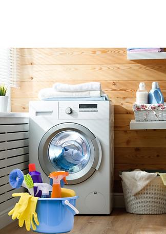 Colorful Folded Clothes Laundromat Poste
