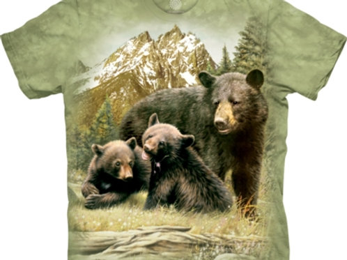 Black Bear Family CHILDS T-shirt.