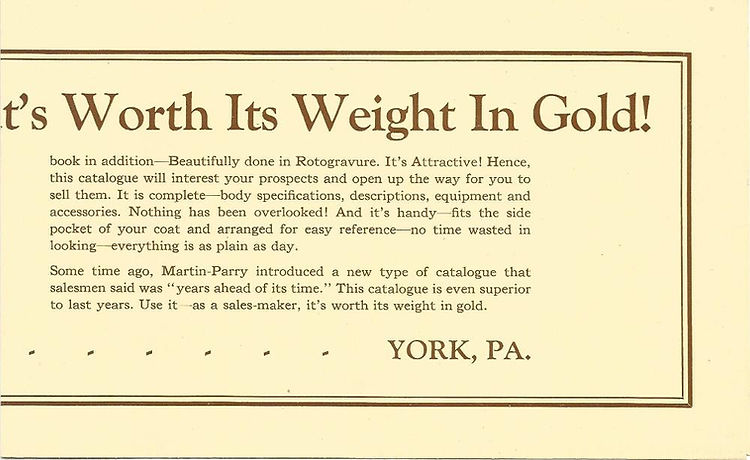 Martin Parry Ad for catalog 1928 page 2-