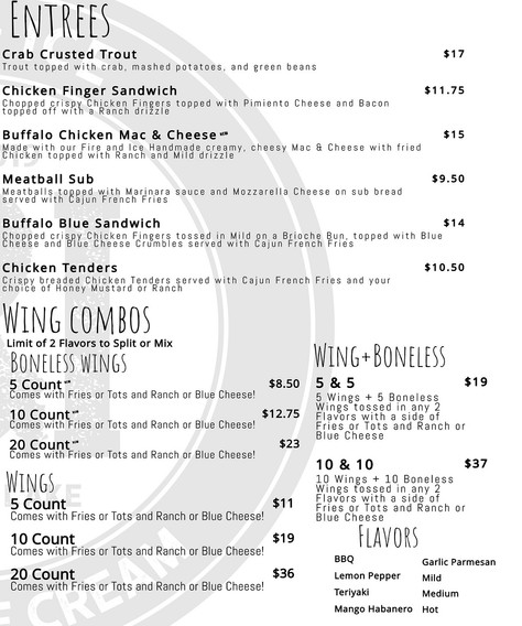 Entrees | Wing Combos